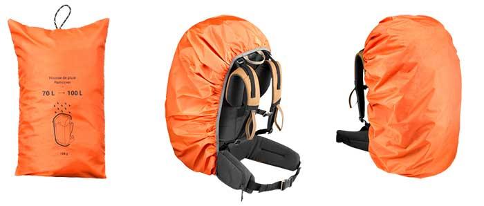 Protector de lluvia para la mochila de montaña